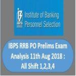 IBPS RRB PO Prelims Exam Analysis 11th Aug 2018