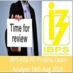 IBPS RRB PO Prelims Exam Analysis 18th August 2018