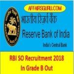 RBI SO Recruitment 2018 In Grade B