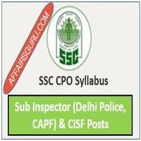 SSC CPO Syllabus - AffairsGuru