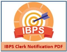 IBPS Clerk Notification PDF
