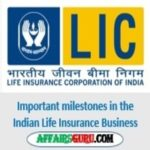Important milestones in the Indian Life Insurance Business