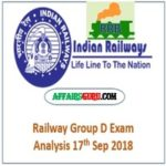 Railway Group D Exam Review 17th Feb 2018