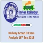 Railway Group D Exam Review 18th Feb 2018