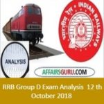 RRB GRoup D Exam Analysis 12th October All Shift 1st, 2nd and 3rd