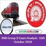 RRB Group D Exam Analysis 16th October 2018 -All Shift (1st,2nd and 3rd)