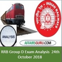 RRB Group D Exam Analysis 24th October 2018