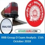 RRB Group D Exam analysis 15th October All Shifts (1st,2nd,3rd)