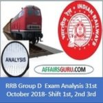 RRB Group D exam Analysis 31st October 2018