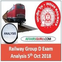Railway Group D Exam Analysis 5th Oct 2018