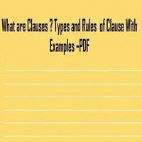 Clauses and Rules of Clause with Examples - PDF Download