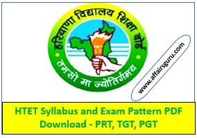 HTET Syllabus & Exam Pattern PDF