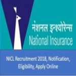 NICL Recruitment 2018 (Notification, Apply Online, Eligibility Creteria