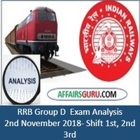 RRB Group D Exam Analysis 2nd November 2018-All Shifts(1st, 2nd and 3rd)