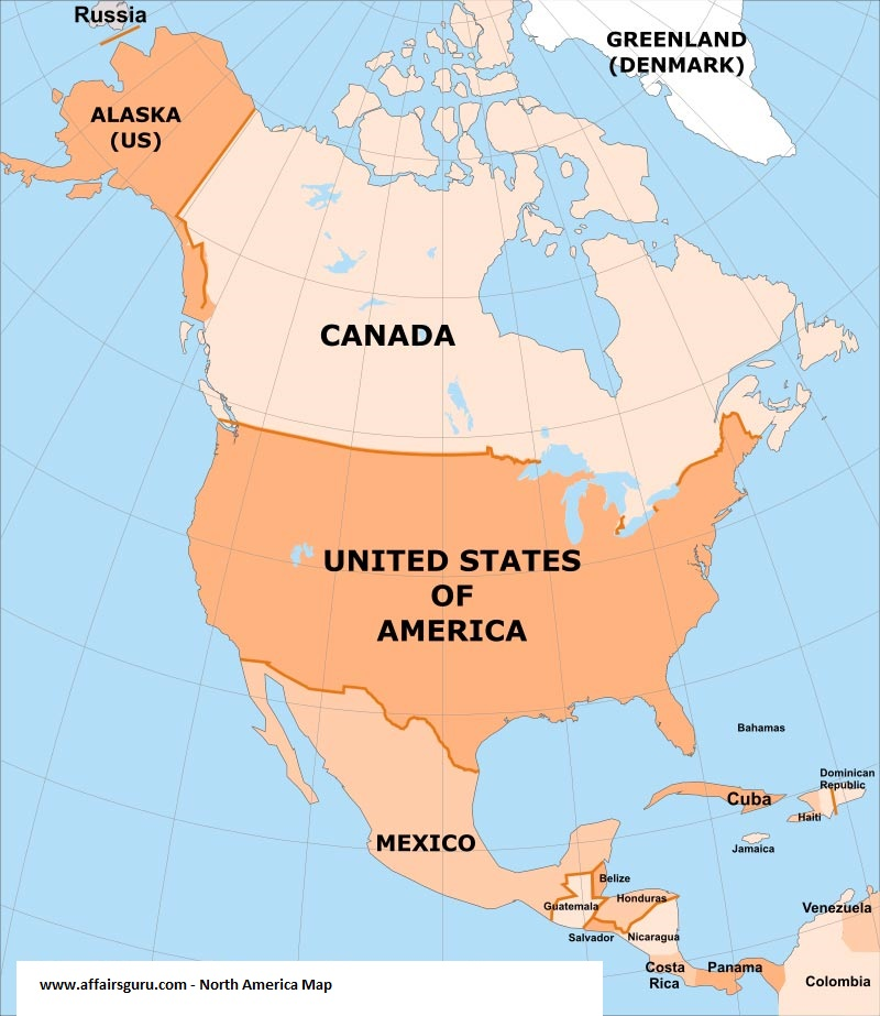 North America Countries and Regions Capitals List