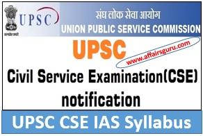 Syllabus pdf upsc service civil exam