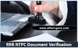 RRB NTPC Document Verification