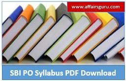 SBI PO Syllabus PDF Download
