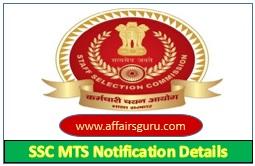 SSC MTS Notification Details
