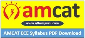 AMCAT ECE Syllabus PDF Download