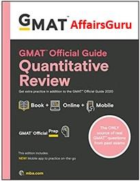GMAT Official Guide Quantitative Review Cover - AffairsGuru