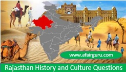 Rajasthan History and Culture Questions
