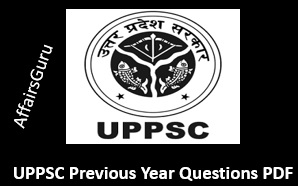 UPPSC Previous Year Questions Paper PDF
